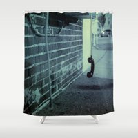 hook Shower Curtains featuring Off The Hook by Nick Coleman