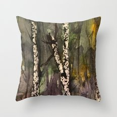 Birches be Crazy Throw Pillow