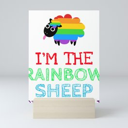 I'm the Rainbow Sheep in My Family Mini Art Print