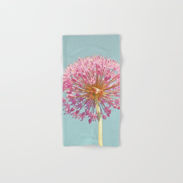 Pink Allium Hand & Bath Towel