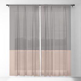 GRANITE x LIGHT SIENNA Sheer Curtain