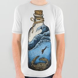 Deep blue bottle All Over Graphic Tee