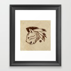 last of the meowhicans Framed Art Print