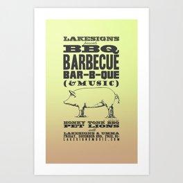 Lakesigns Poster - Honky Tonk BBQ 12-2-2011 Art Print