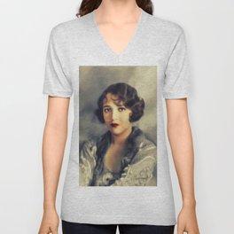 Bebe Daniels, Vintage Actress Unisex V-Neck