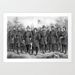 Union Generals of The Civil War Art Print