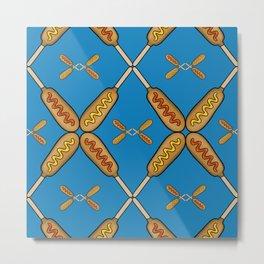 Corn Dogs Metal Print