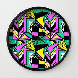 crazy 80s Wall Clock
