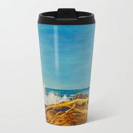 Lighthouse by the Sea Travel Mug
