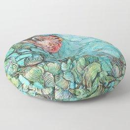 The Aquamarine Labyrinth (detail no. 1) Floor Pillow