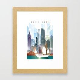 The city skyline of Hong Kong Framed Art Print