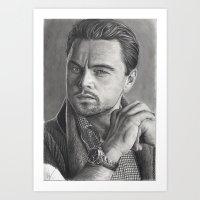 leonardo dicaprio Art Prints featuring Leonardo DiCaprio by fabio verolino