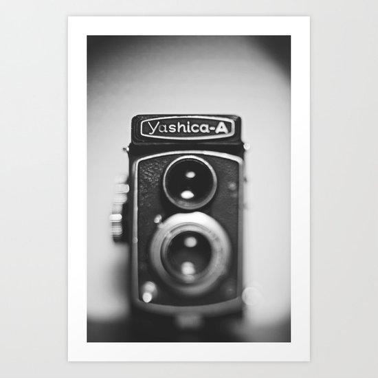 Yashica-A black and white Art Print