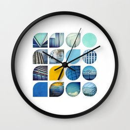 Cold Comfort Collage — The Blues Wall Clock