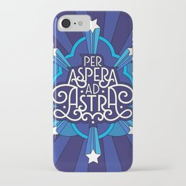Through Hardship To The Stars iPhone Case