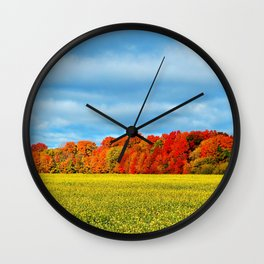 The Field and the Forest in October Wall Clock
