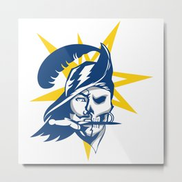 Tampa Bay Sports V3 Blue w/ Yellow Star Metal Print