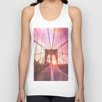 brooklyn bridge Tank Tops featuring Brooklyn Bridge  by Vivienne Gucwa