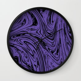 Ultraviolet Marble Wall Clock