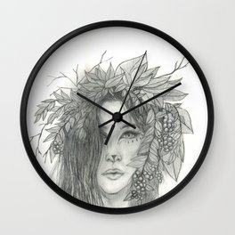 Brigid, Celtic Triple Goddess Wall Clock