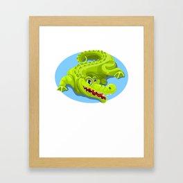 Cartoon Crocodile Vector Design 2 Framed Art Print