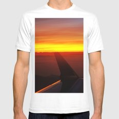 Sunset at 30,000 Feet Mens Fitted Tee White MEDIUM