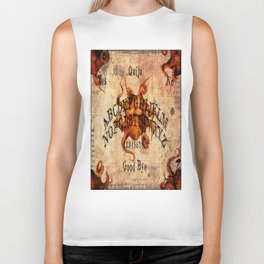 Here There Be Monsters Talking Board Biker Tank