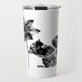 Squirrel and the flower Travel Mug