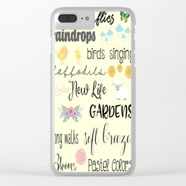 All About Spring Clear iPhone Case