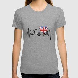London Heartbeat Skyline Union Jack For Men & Women London T-shirt