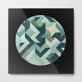 circle geometry (Black Background) Metal Print