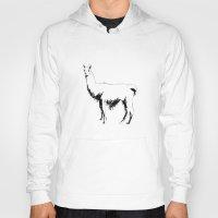 llama Hoodies featuring Llama by George Williams