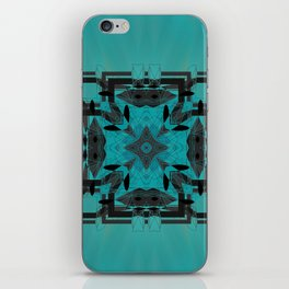 Turquoise Ornate Abstract Design iPhone Skin