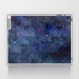 Night Sky Stars Galaxy   Watercolor Nebula Laptop & iPad Skin