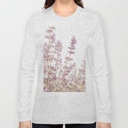 Soft Pink Wild Summer Flowers Long Sleeve T-shirt