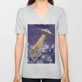 Abduction of the Delighted Lamb Unisex V-Neck