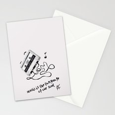 music is the language of our soul. Stationery Cards
