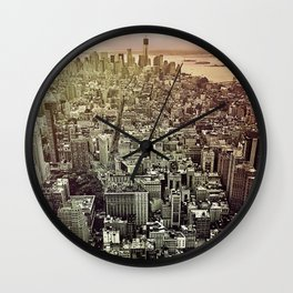 moody Manhattan Wall Clock