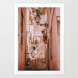 Narrow Street in Lisbon Art Print