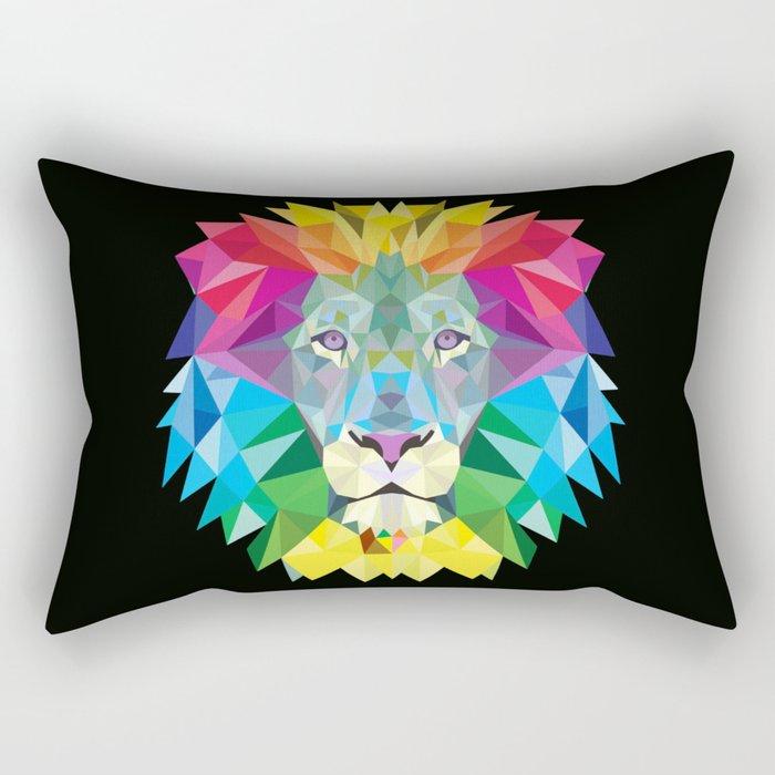 High Color Lion  Rectangular Pillow