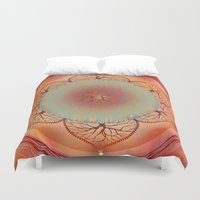 chakra Duvet Covers featuring Sacral Chakra by brenda erickson