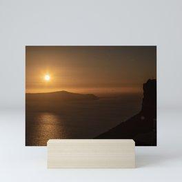 Golden Hour in Santorini Mini Art Print