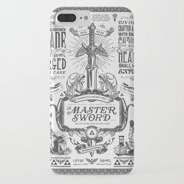 Legend of Zelda Vintage Master Sword Advertisement iPhone Case