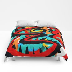 Primitive Abstract Art Street Style Comforters