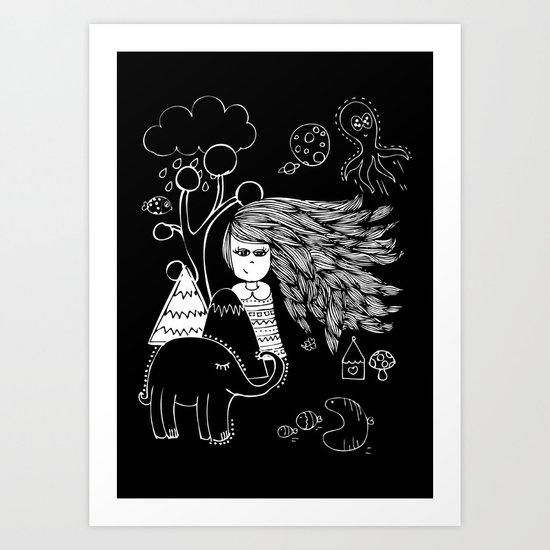 I'm Feeling Weird Art Print