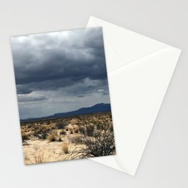 California desert under the clouds Stationery Cards