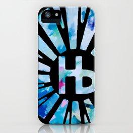 Hermosa Beach Agua Sunburst iPhone Case