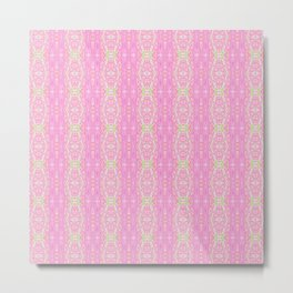 Pretty Pink And Green Abstract  Metal Print