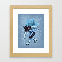 January Fairy Framed Art Print