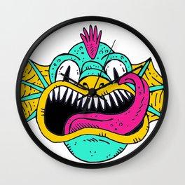 Monster Dragon Face Wall Clock